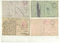 WW1. ARMY POST OFFICE &  FIELD POST OFFICE X 4 ON POSTCARDS.PLEASE SEE PICTURES