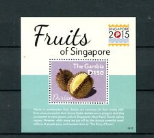 Gambia 2015 MNH Fruits of Singapore 2015 1v S/S Durian Flora