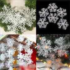 30PCS DIY Christmas White Snowflake Charms for Festival Home Ornaments Decor FT2