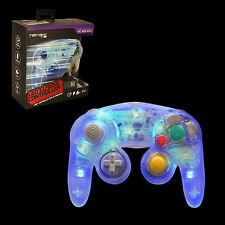 Blue LED RetroLink Gamecube Style USB Controller for PC & Mac