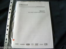 Sherwood  SD-871 Operating Instructions Istruzioni Mode d'emploi Owner's manual