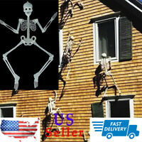 Halloween Scary Props Luminous Hanging Skeleton Outdoor Party Decorations