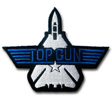 Top Gun F 14 US Navy Emblem Military Patch Iron On Tomcat Badge Pilot Fighter MC