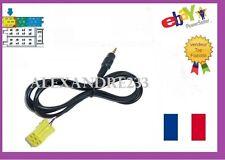 Cable auxiliaire aux lecteur MP3 IPHONE autoradio Fiat Qubo 6 pin