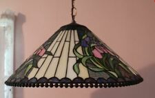 Tiffany Style Lamp Hanging Chandelier Ceiling Plastic - Stained Glass look