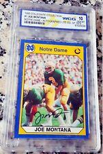JOE MONTANA Notre Dame Auto GEM MINT 10 /1979 LOT Rookie Card RC Reprint 49ers