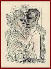 Max Beckmann - 1957 Mephisto esfinge shiron - 3 originalholzstiche al puño