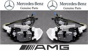 For Mercedes C215 CL Class Pair Set Of 2 Front Door Lock Mechanisms OES Motors