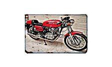 Ducati 350 Desmo Motorbike Sign Metal Retro Aged Aluminium Bike