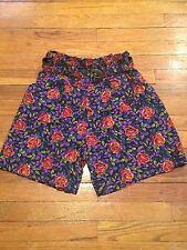 vintage high waist floral GITANO shorts Grunge Prep Revival Hip Boho Festival