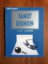Janet Lorimer FAMILY REUNION Fearon Double Fastback Mystery L@@K WOW!!!