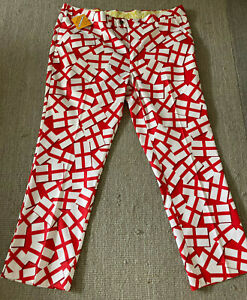 Loudmouth Golf Trousers 40w/29L - ENGLAND FLAG