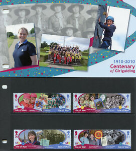 Isle of Man IOM 2010 MNH Girlguiding Cent 8v Set Pres Pack Girl Scouts Stamps