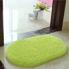 Green Oval Bathroom Rug Non Slip Bath Mat Room Floor Cover Shower Carpet