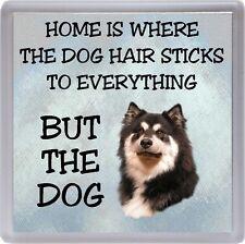 "Finnish Lapphund Coaster ""Home is Where the Dog Hair Sticks ......"" by Starprint"