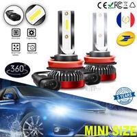 Paire H8 H9 H11 LED Phare de voiture Feux Kit 110W 6000K Blanc Ampoule Lampe