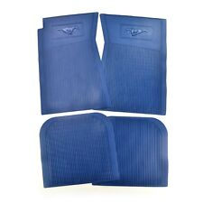 Mustang Floor Mats Pony 4 Piece Set Rubber 1965 66 67 68 69 70 71 72 73 Blue