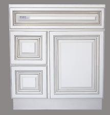 "New Antique White Single-sink Bathroom Vanity Base Cabinet 30"" Wide x 21"" Deep"