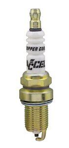 "ACCEL 0786-4 U-Groove Resistor Spark Plug - 14mm Thread - 3/4"" Reach"
