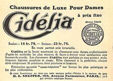 """PARIS AVENUE PARMENTIER """" CIDELIA """" CHAUSSURES DE LUXE POUR DAMES 1912"""