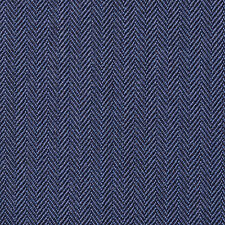Holland and Sherry Medium Blue Narrow Herringbone All Wool Suiting - 3.50 Mtrs
