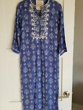NEW Anita Dongre Grassroots Women's Blue & White Kurta / Tunic, Size XS