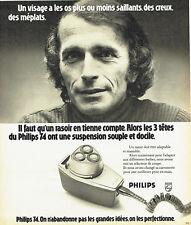 Publicité Advertising 108  1974   rasoir éléctrique Philips 3 tetes