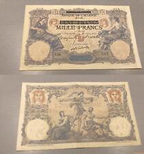 Algérie - 1000 Francs 16/7/1892 N.54 207 sur 100 francs Bleu et Rose TTB SUP - A