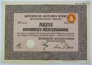 GERMANY BMW Bayerische Motoren Werke AG 500 Reichsmark 1942 Share *