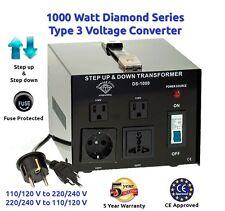 Diamond Series 1000 Watt Step Up/Down Voltage Converter Transformer