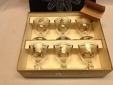 VTG 8982 HOSTESS GLASSWARE BY LIBBEY GOLDEN FOLIAGE SET OF 6 COCKTAIL 4 OZ  USA