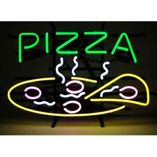 """Pizza Slice 17""""x14"""" Neon Sign Light Lamp Beer Glass Bar With Dimmer"""