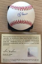 YOGI BERRA UPPER DECK AUTHENTICATED SIGNED A.L. BASEBALL COMPLETE WITH PAPERS