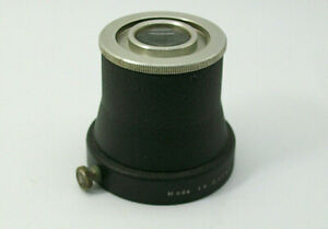 EARLY ZEISS IKON OPTICAL SLIP ON & TIGHTEN WITH A WHEEL BLACK METAL VIEWER TUBE