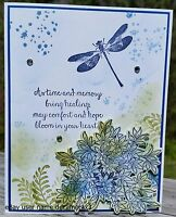 SYMPATHY CARD, STAMPIN' UP, AWESOMELY ARTISTIC, HANDMADE, DRAGONFLY, FLOWER