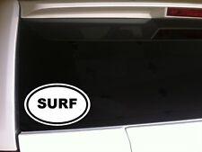 "Surf Oval Car Decal Vinyl Sticker 6"" *D33 Beach Water Summer Board Surfing Love"
