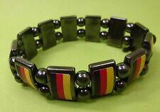 Glücksbringer Stein Armband Fußball EM WM Deutschland Hämatit Blutstein - NEU