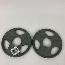 "2.5 Lb Pound Olympic Plate 2"" inch Weider Weight Plates Set 5lbs Total Two Inch"