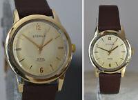 Eterna Birks Challenger Men Wrist Watch Swiss Gold Capped 14K Cal 1407U SERVICED