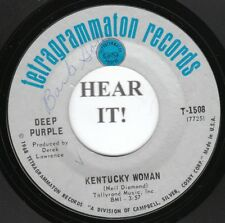 Deep Purple HARD ROCK 45 (Tetragrammaton 1508) Kentucky Woman/Hard Road  VG++/M-
