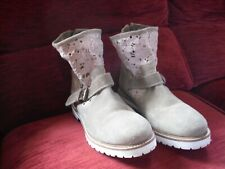 Womens Ankle Tan Suede and Lace Detail Boots Joe Browns Size 7