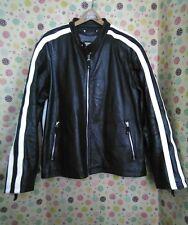 VTG Men's Wilsons M. Julian Motorcycle Full-Zip Cuir Leather Jacket Size 2XL