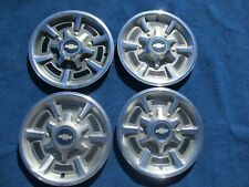 """1973 to 1987 Chevy C-10 Pickup 15"""" Hubcap Wheelcover Set of 4 Original GM"""