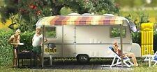 BUSCH 6023 Wohnwagen mit Zubehör H0 Bausatz, Neu