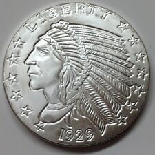 Silver 1/4 Troy oz Incuse Indian Head .999 Pure Silver Round