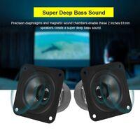 "2pcs New 2"" inch 8Ohm 8Ω 10W HI-FI Tweeter Audio Speaker Stereo Loudspeaker Horn"