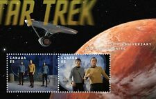 Star Trek Lenticular Souvenir Sheet (Animated Stamps) - Canada Post Stamps