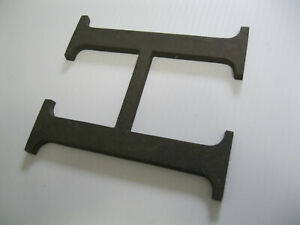 """LARGE BRONZE  Letter  H , 6"""" tall  real bronze  vintage unused old stock   MINT"""
