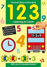 Preescolar Pegatinas Libro De Actividades 123 aprendizaje Count números 201 /