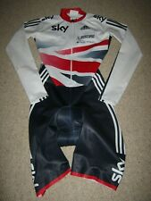 SKIN SUIT TEAM GB SKY BRITISH CYCLING L/S ADIDAS [S] EX TEAM ISSUE